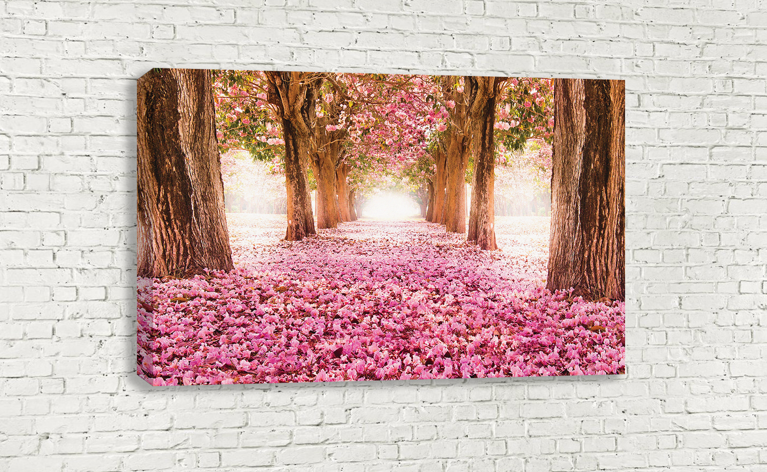 Pink blossom fallen from the trees forest flowers wall art wallart pink blossom fallen from the trees forest flowers wall art mightylinksfo