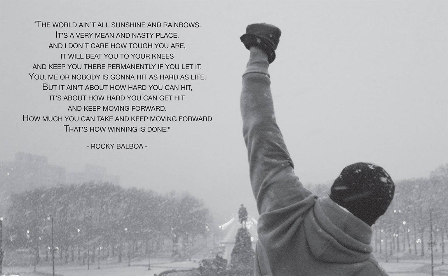 Rocky Quote | Rocky Balboa Famous Movie Quote Philadelphia Art Wallart London