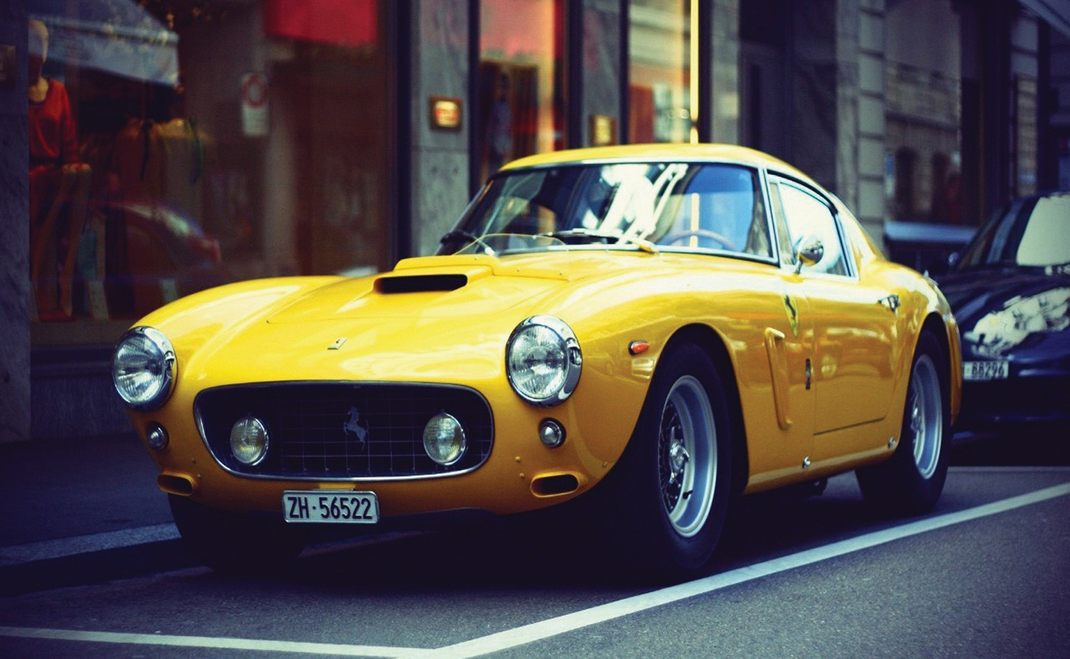 VINTAGE FERRARI 250 GT BERLINETTA CLASSIC CAR WALL ART - wallart.london