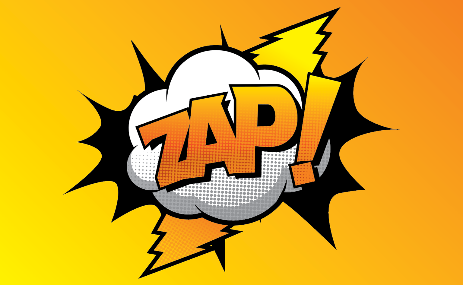 ZAP! RETRO POP ART COMIC STYLE VINTAGE WALL ART - wallart.london