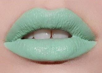 Green Liquid Lip Paint Swatch