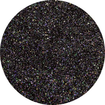 Diamond Cosmetic Glitter, Heavenly Stars, Black Hologram Glitter, 10 gram jar