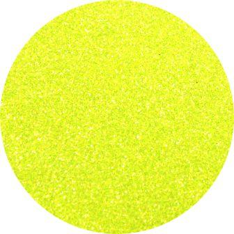 Neon Yellow Glitter Makeup