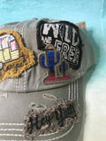 Happy Camper Patched Vintage Ballcap Dark Gray