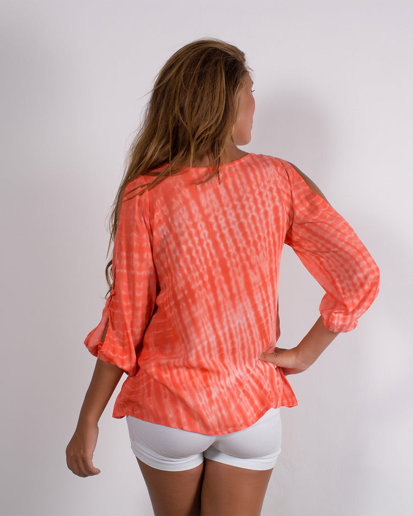 Annely Peach Tie Dye