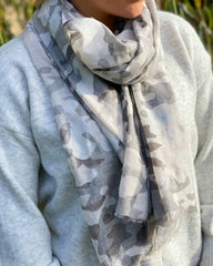 Light Grey Camo Scarf