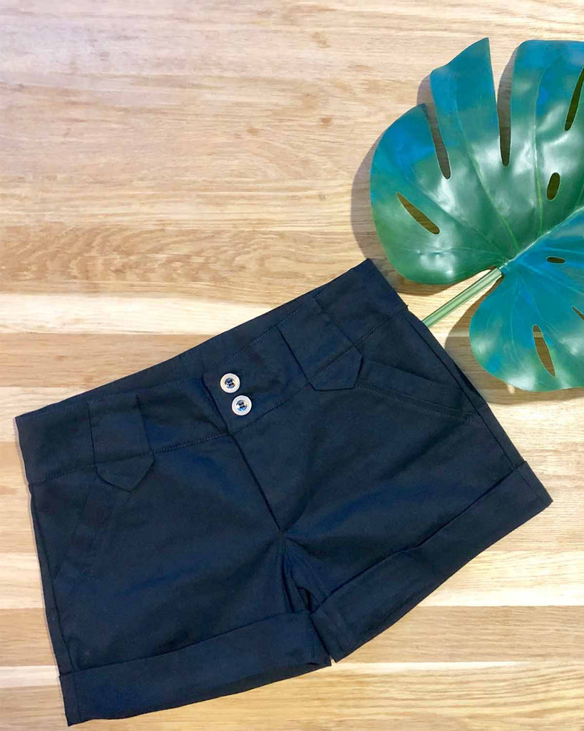 Daisy Shorts Black