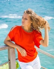 Orange Clemmie Top