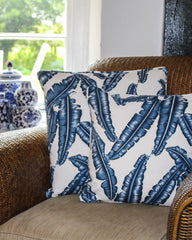 Palm Leaf Print Cushion Cover