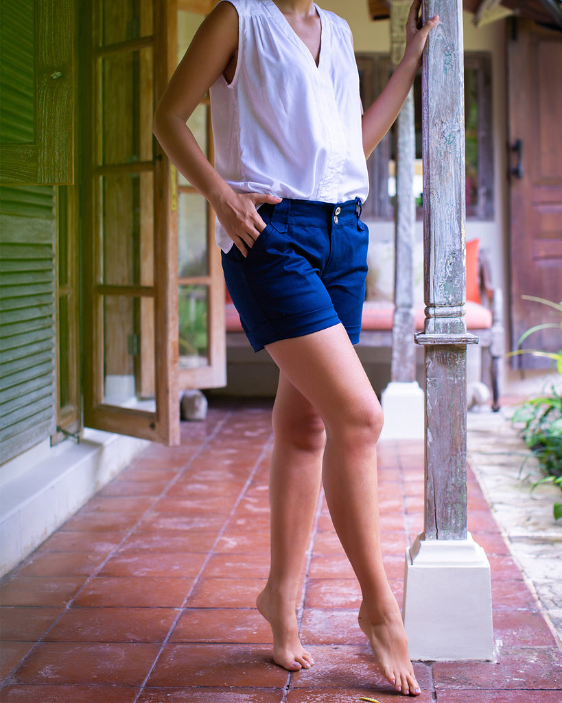 Daisy Shorts Navy