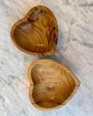 WGH Wooden Heart Bowl