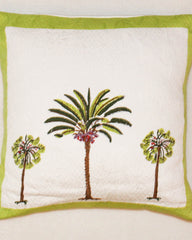 ONLINE ONLY Palm Tree Quilted Cushion Cover