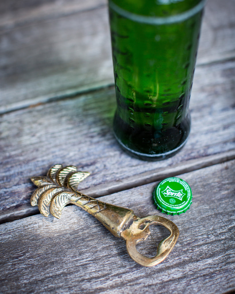 WGH Brass Palm Tree Bottle Opener