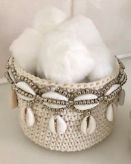 ONLINE ONLY Woven Shell Mini Basket