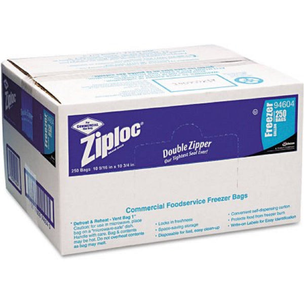 Ziploc Double Zipper Freezer Bags-Gallon 250  Ct