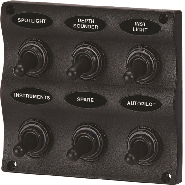 Unified Marine SeaSense WAVE Design 6 Gang Switch Panel