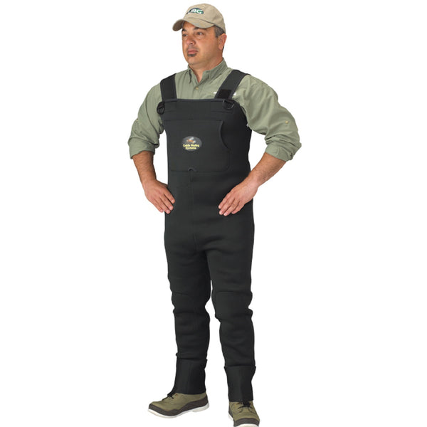 Caddis Mens Neoprene Stockingfoot Waders - XL Stout  Green