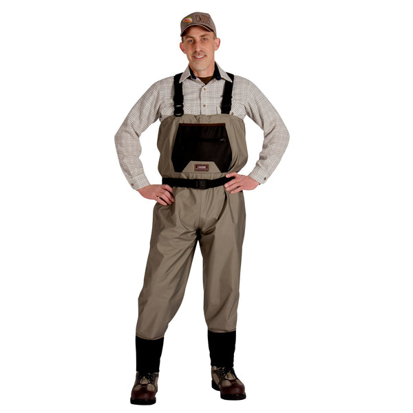 Caddis Mens Breathable Stockingfoot Waders - XL Stout Tan