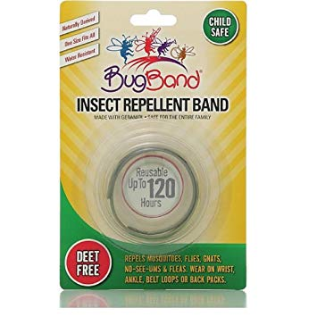 BugBand Insect Repellent Wristband Asstd Colors (Case of 12)