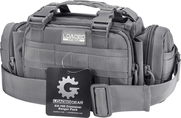 Loaded Gear GX-100 Crossover Ranger Pack,  Gray