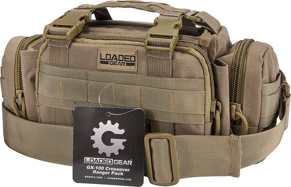 Loaded Gear GX-100 Crossover Ranger Pack, Dark Earth