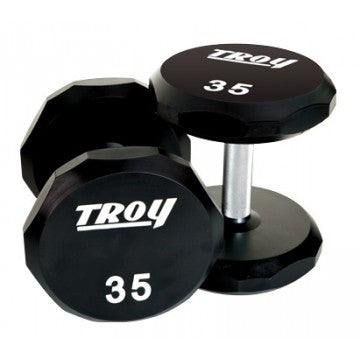Troy 12-Sided Urethane Encased Dumbbell, 30 lbs