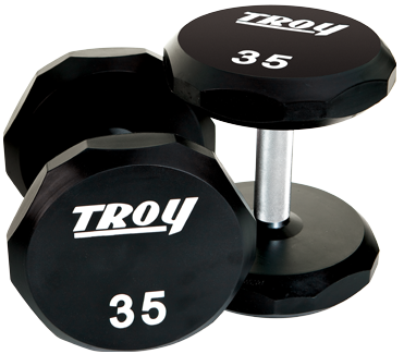 Troy 12-Sided Urethane Encased Dumbbell, 85 lbs