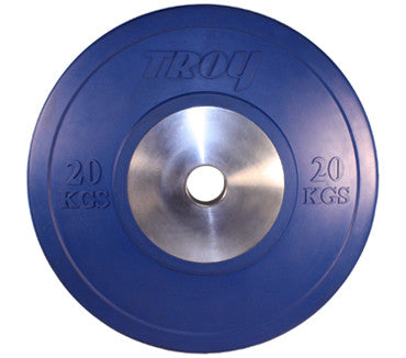 Troy Competition Grade Green Solid Rubber Bumper, 20 kg