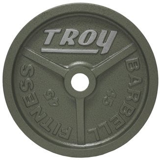 "Troy High Grade Fully Machined Gray ""WideFlanged"" Olympic Plate, 45 lbs"