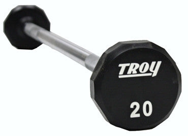 Troy Urethane 12 Sided E-Z Curl Barbell, 50 lbs