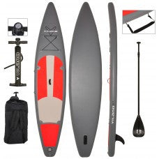 "Vilano 12' Inflatable Touring/Race SUP Stand Up Paddle Board, 6"" Thick"