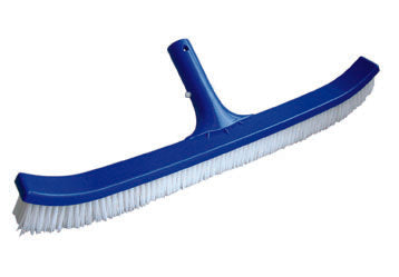 "18"" Curved Polybristle Wall Brush Plastic Back Pool Brush"