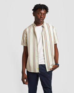 Poplin & Co. Blanket Weave Short Sleeve Shirt