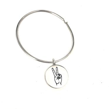 Glass House Goods Peace Sign Bangle