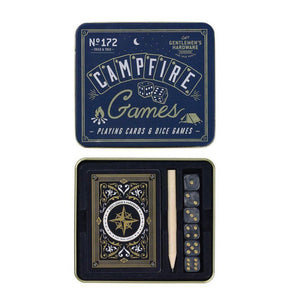 Gentlemen's Hardware Campfire Games Set | Playing Cards & Dice Games
