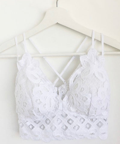 Lacey Bralette - White
