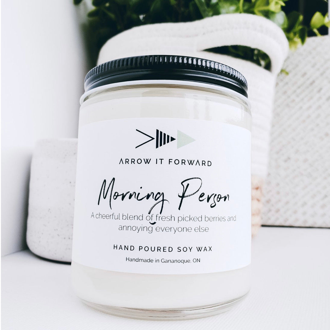 Arrow It Foward Morning Person Soy Candle