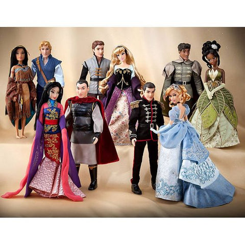 Picture of a group of Disney Porcelain Dolls