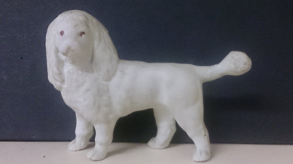 Bisque Porcelain Poodle, White, Markings Read, C I .A. 1875 & Bisque - Roadshow Collectibles