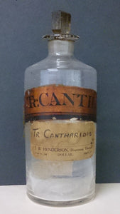 Vintage Apothecary Glass Bottle - Roadshow Collectibles