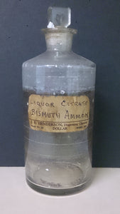 Apothecary Clear Glass Bottle Container, Used For Crude Drugs, 1869 - Roadshow Collectibles