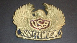 1983 Motor Harley Davidson Company Official Licensed Eagle Belt Buckle - Roadshow Collectibles