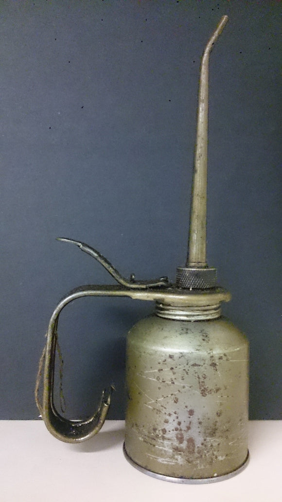 Eagle Oil Can, Round Base Long Body, Handle with Thumb Pump Long Spout - Roadshow Collectibles
