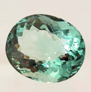 Oval-Cut Green Amethyst Gemstone, Uruguay - Roadshow Collectibles