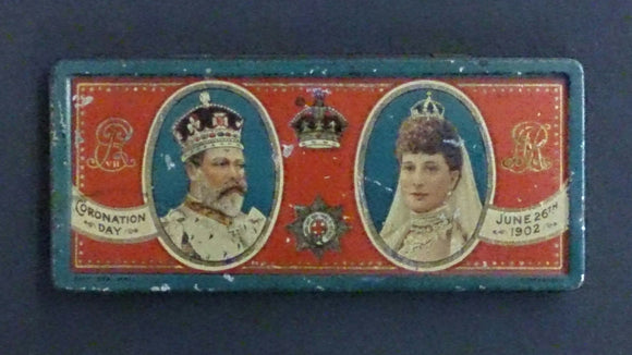 1902 Coronation of Edward VII & Queen Alexandra, Souvenir Tin - Roadshow Collectibles