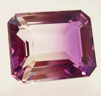 Emerald-Cut Purple & White Ametrine Gemstone, Bolivia - Roadshow Collectibles