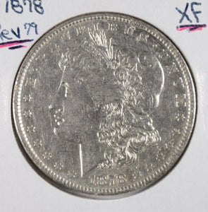 Morgan 1878 Silver Dollar, Rev of 79 XF - Roadshow Collectibles