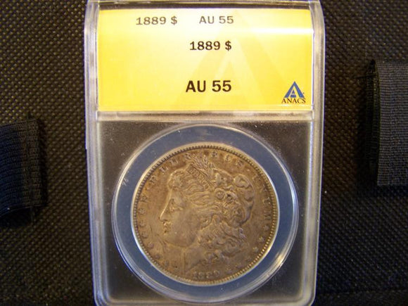 Morgan 1889 Silver Dollar, (ANACS) AU 55 - Roadshow Collectibles
