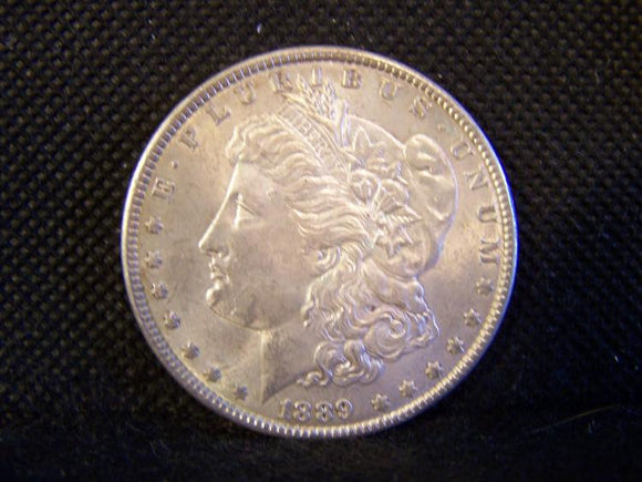 Morgan 1889 Silver Dollar, Slider Uncirculated - Roadshow Collectibles