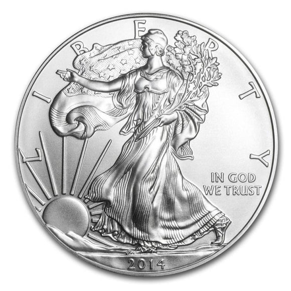 American Eagle Silver, 2014, 1 ounce, BU Brilliant Uncirculated - Roadshow Collectibles
